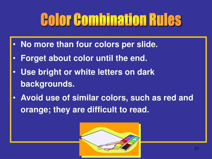 Color Combination Rules