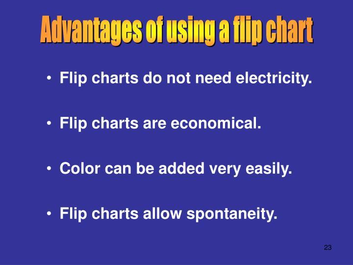 Advantages of using a flip chart