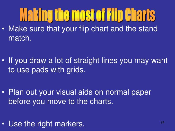 Making the most of Flip Charts