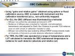 obc calibration