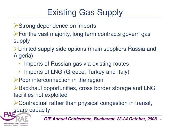 Existing Gas Supply