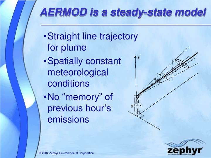 AERMOD is a steady-state model
