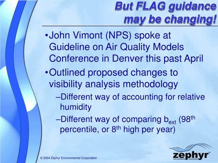 But FLAG guidance