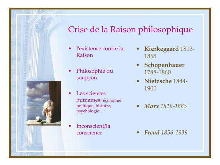Crise de la Raison philosophique