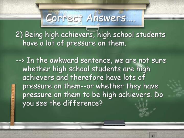 Correct Answers….