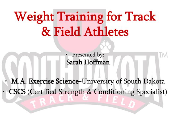 weight training for track field athletes n.