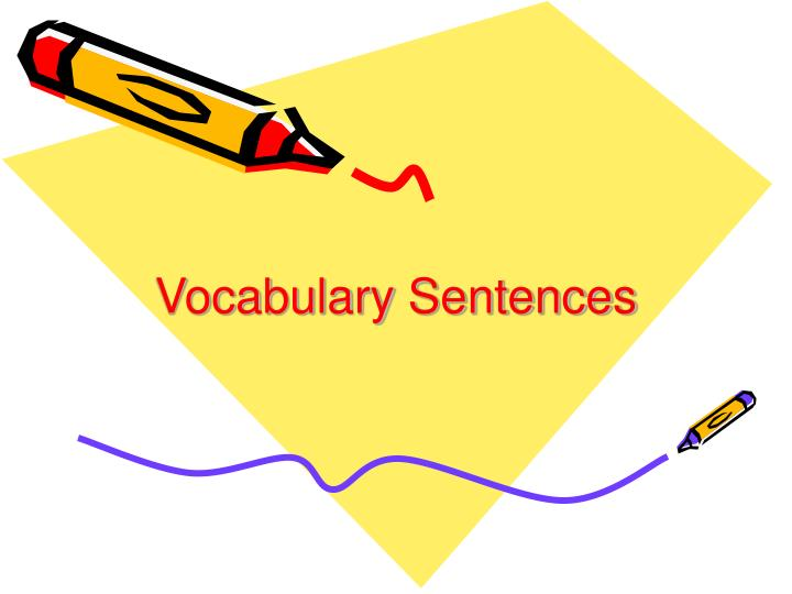 vocabulary sentences n.