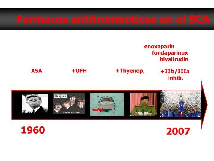 Farmacos antitromboticos en el SCA