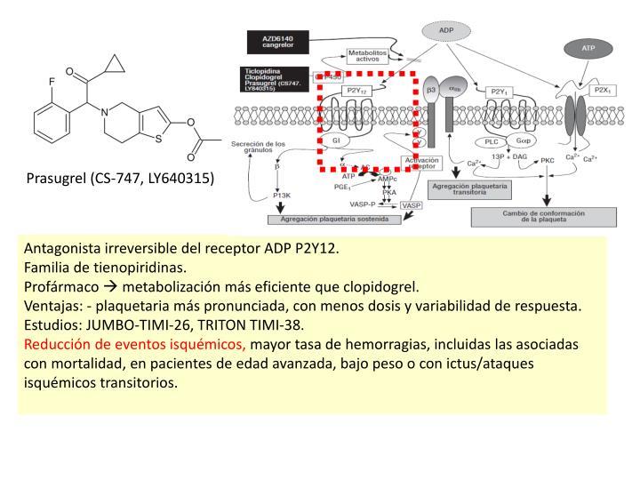 Prasugrel (CS-747, LY640315)