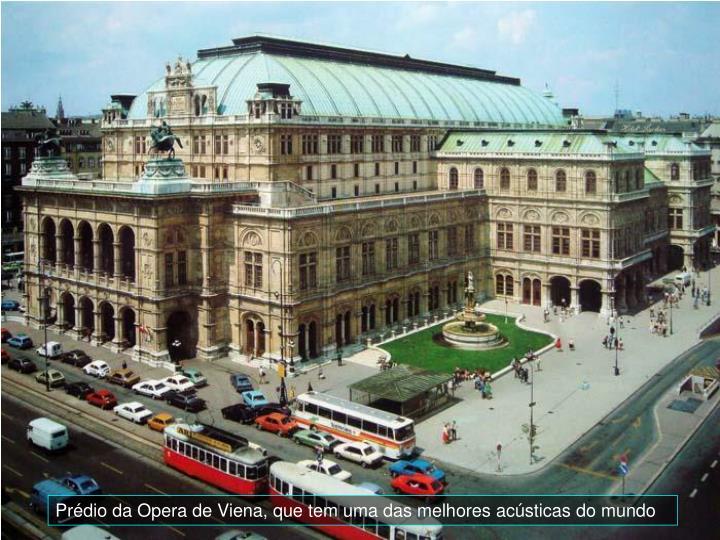 Prédio da Opera de Viena, que tem uma das melhores acústicas do mundo