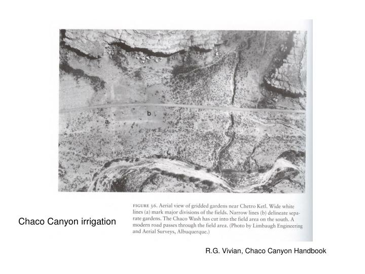 Chaco Canyon irrigation