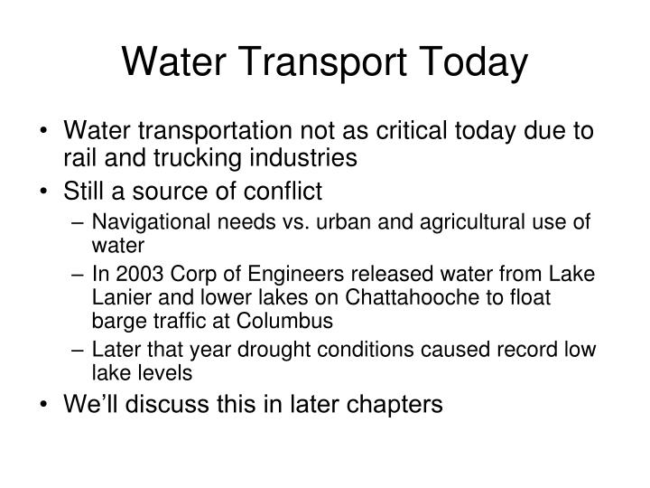 Water Transport Today