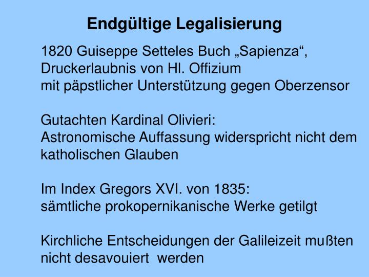 Endgültige Legalisierung