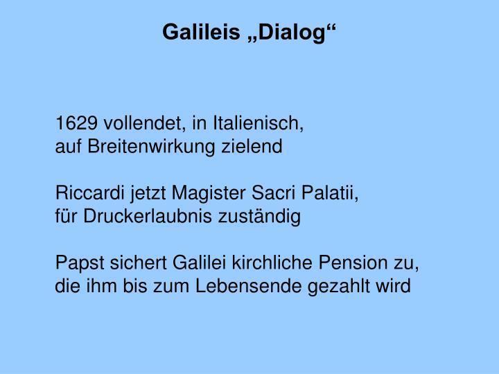 """Galileis """"Dialog"""""""