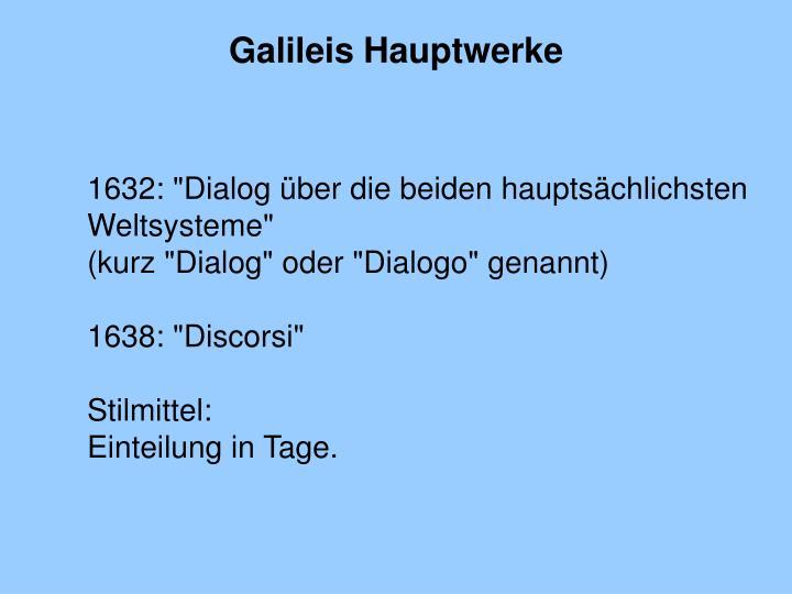 Galileis Hauptwerke