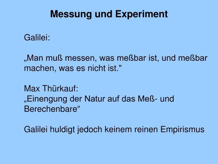 Messung und Experiment