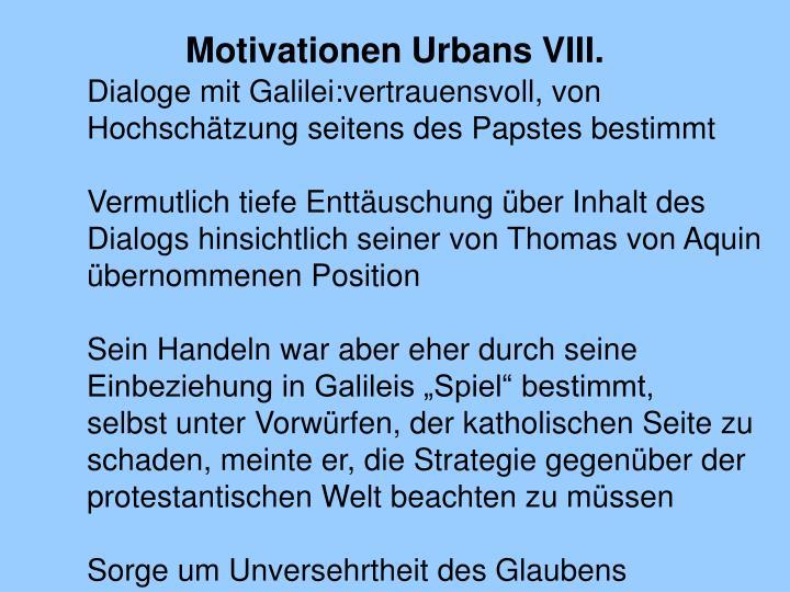 Motivationen Urbans VIII.