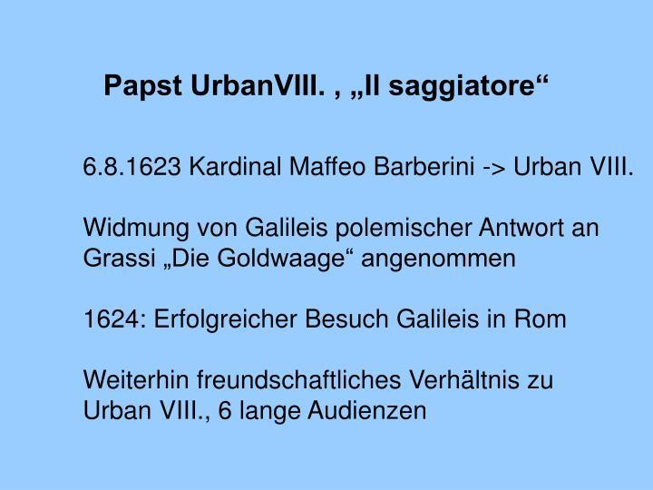 """Papst UrbanVIII. , """"Il saggiatore"""""""