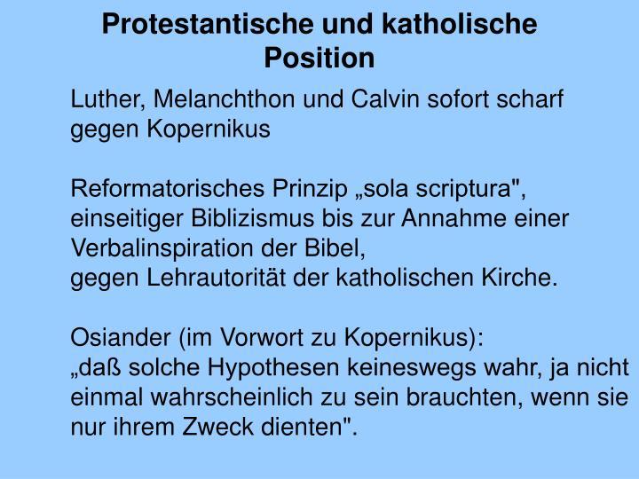 Protestantische und katholische Position