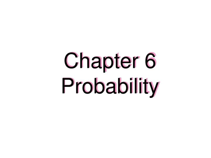 chapter 6 probability n.