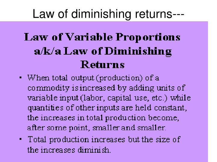 Law of diminishing returns---