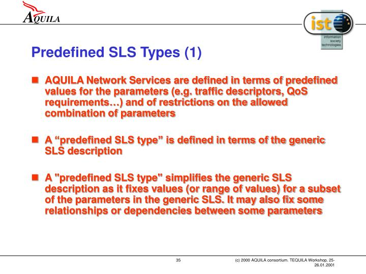 Predefined SLS Types (1)