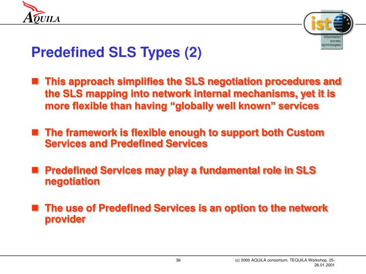 Predefined SLS Types (2)