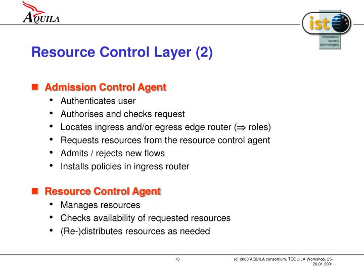 Resource Control Layer (2)
