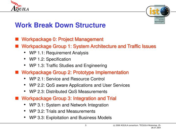 Work Break Down Structure