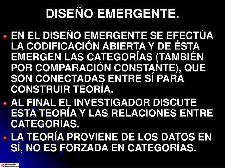 DISEÑO EMERGENTE.