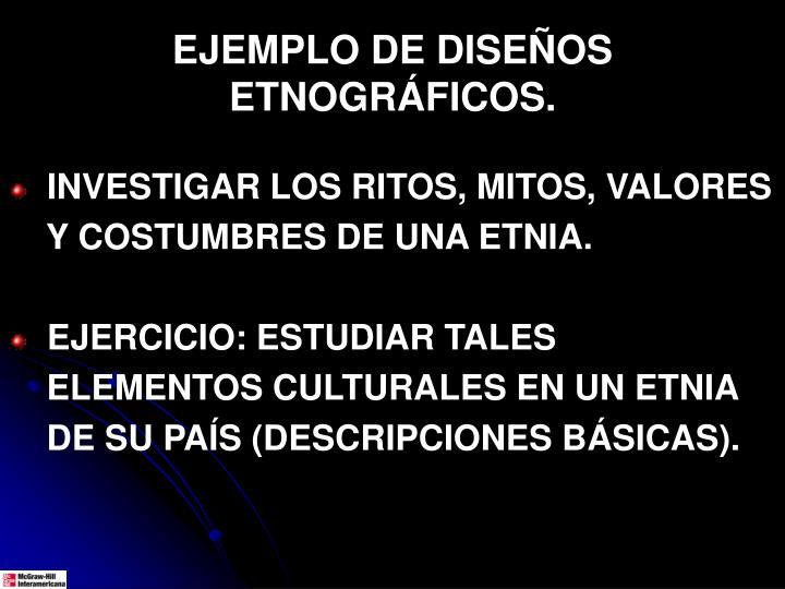 EJEMPLO DE DISEÑOS ETNOGRÁFICOS.
