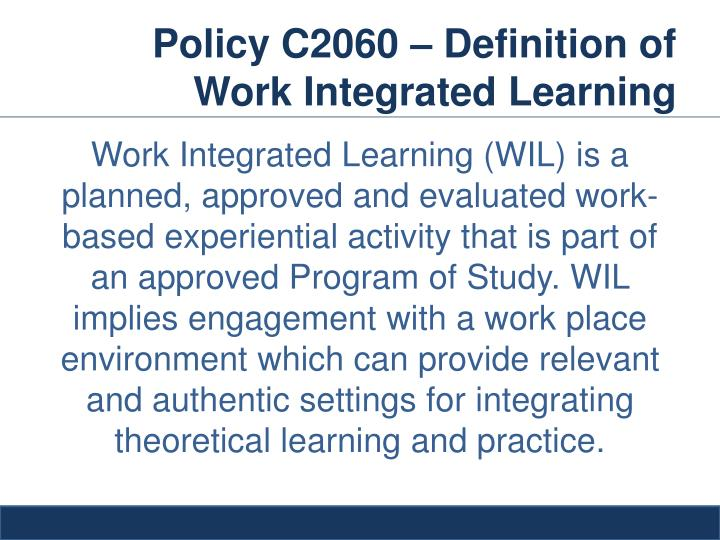 Ppt Implementing The Work Integrated Learning Agreement Wil