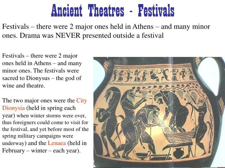 ancient theatres festivals n.