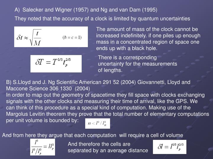 Salecker and Wigner (1957) and Ng and van Dam (1995)