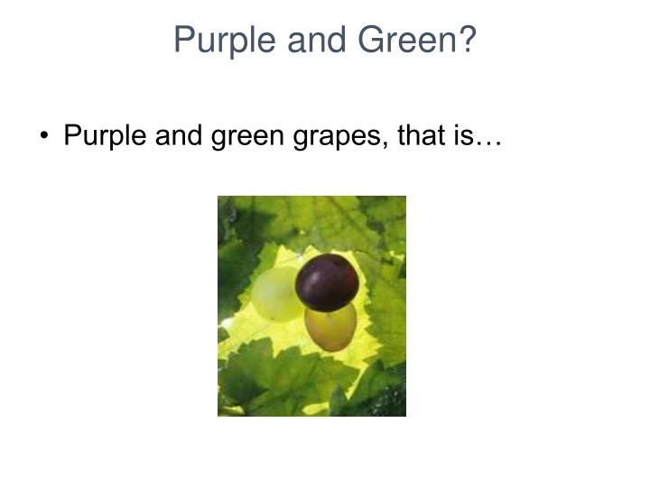 Purple and Green?