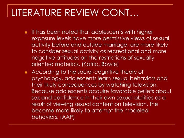 LITERATURE REVIEW CONT…