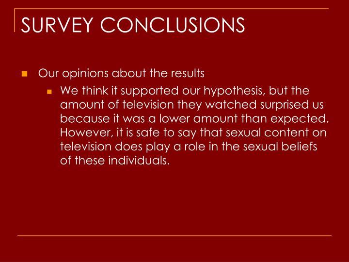 SURVEY CONCLUSIONS