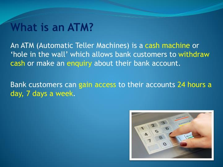 What is an ATM?