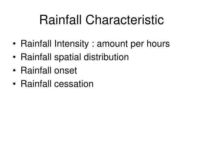 Rainfall Characteristic