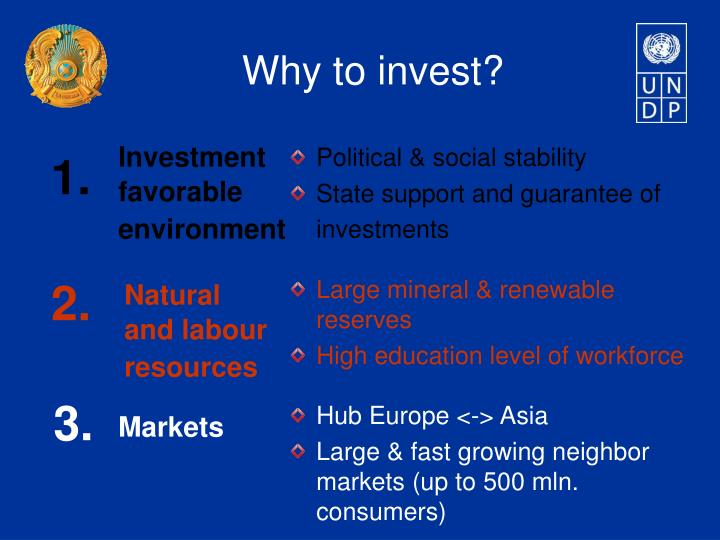 Why to invest