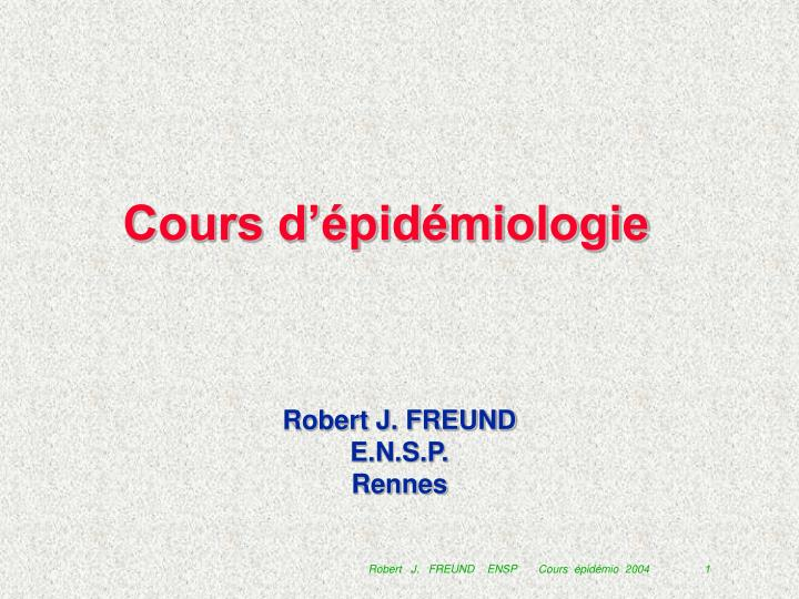 Cours d pid miologie