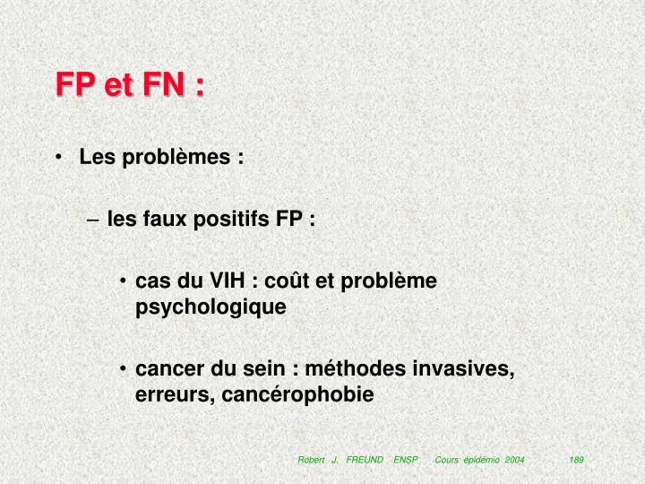 FP et FN :
