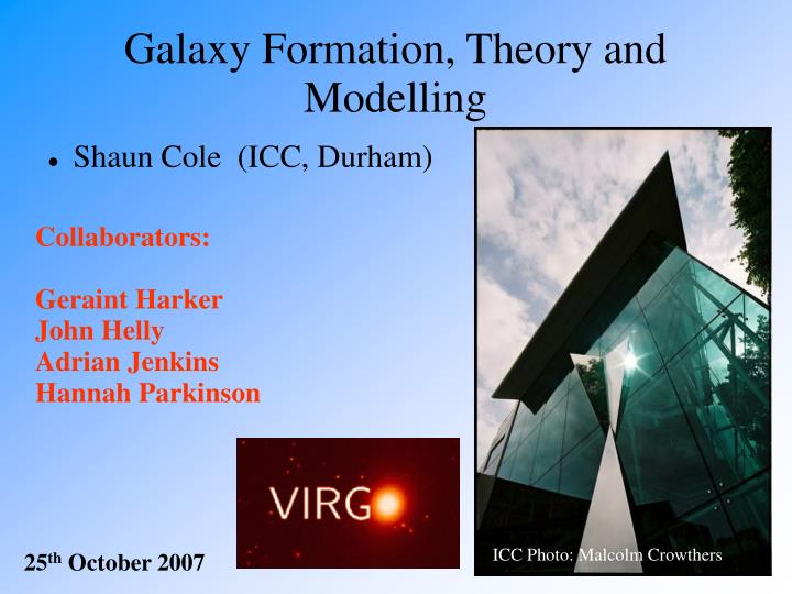 galaxy formation theory and modelling