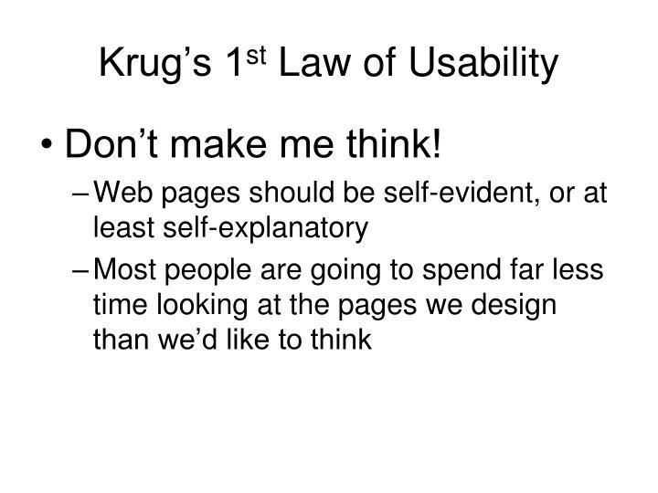 Krug's 1