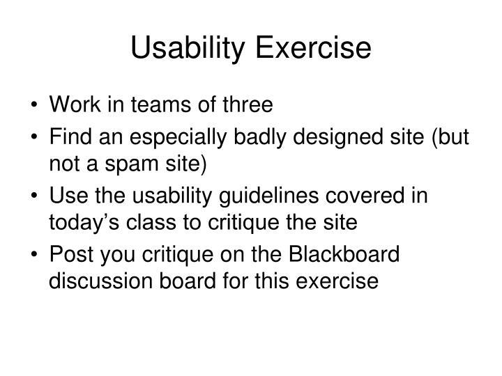Usability Exercise