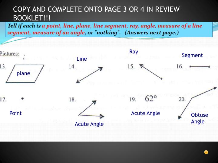 COPY AND COMPLETE ONTO PAGE 3 OR 4 IN REVIEW BOOKLET!!!