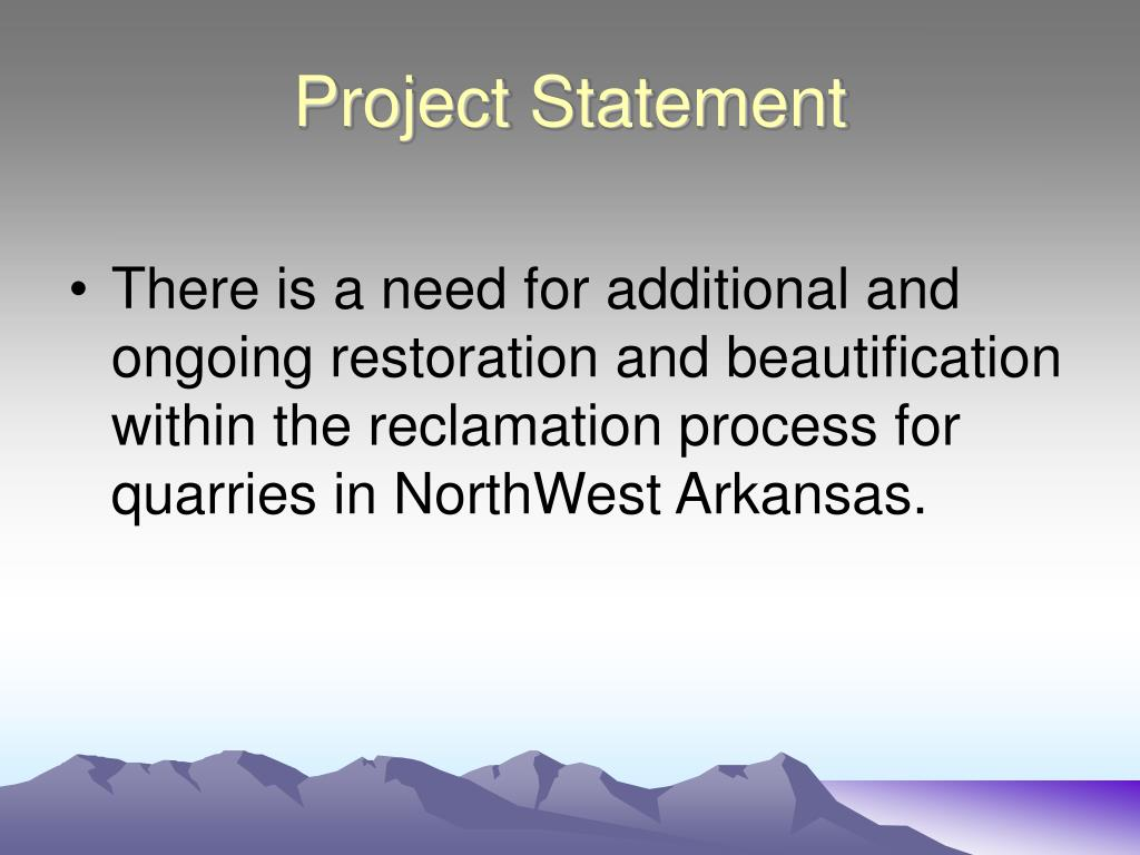 PPT - Reclamation Proposal for Limestone Quarries in