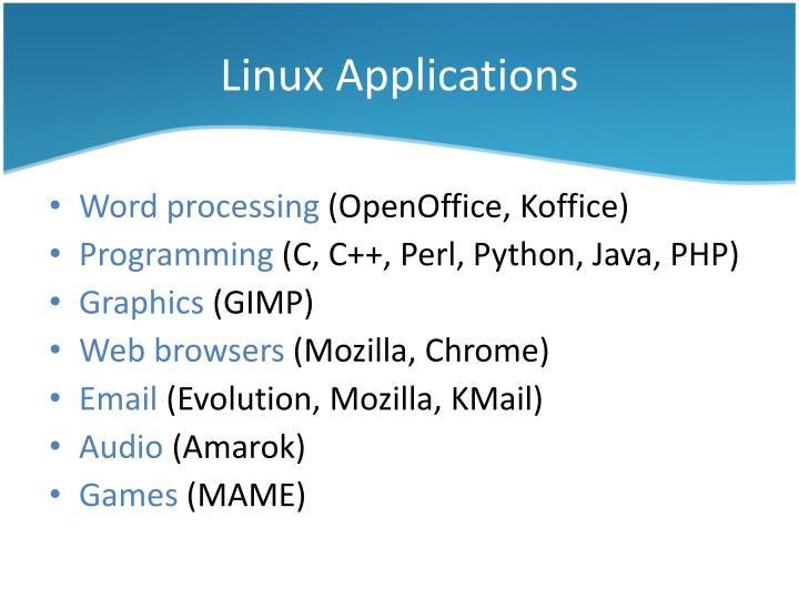Linux Applications