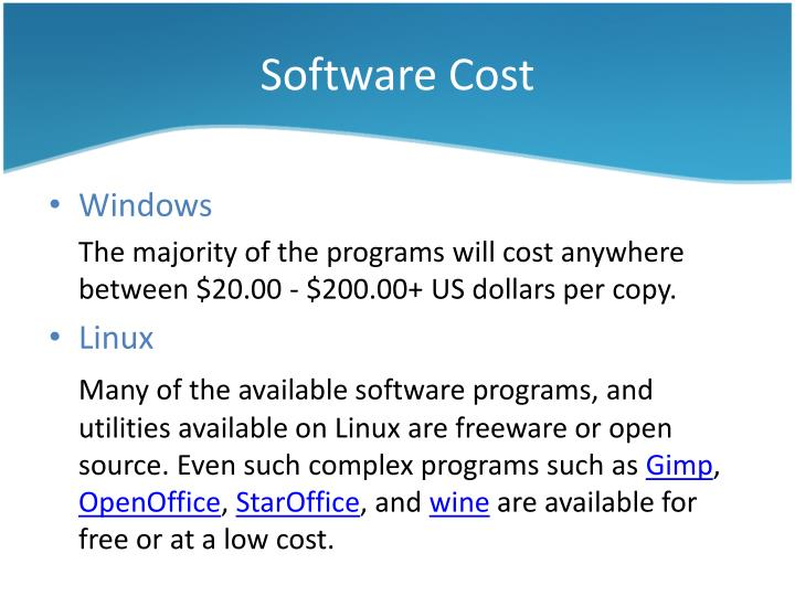 Software Cost