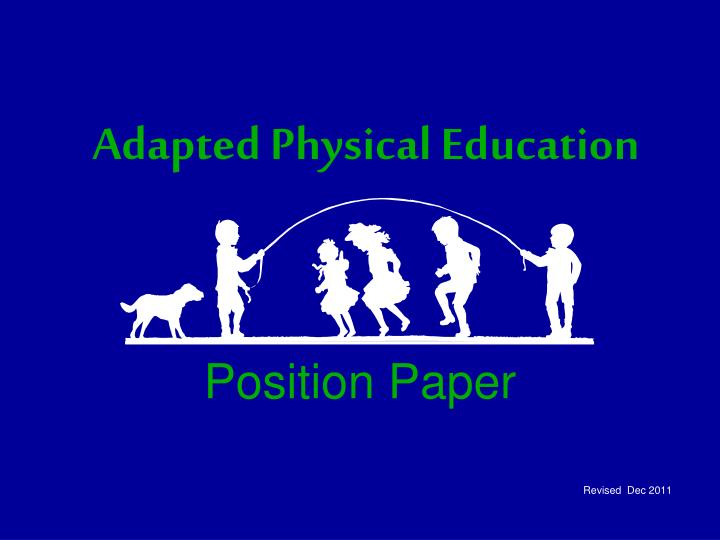 adapted physical education n.